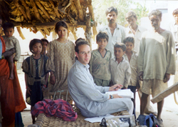 Conducting village interviews in Madhya Pradesh, India (back when I had hair...)